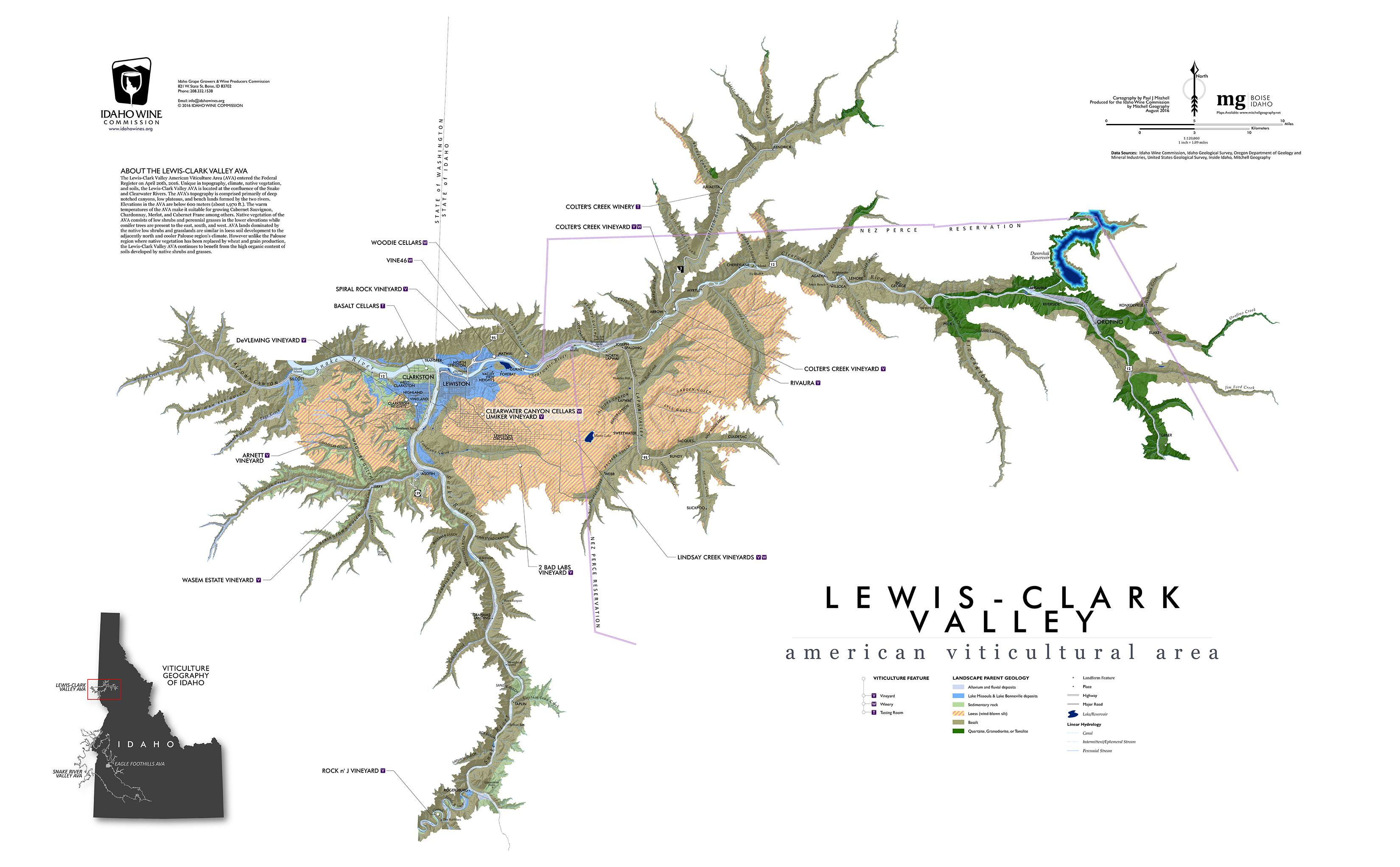 graphic regarding Lewis and Clark Printable Map identified as Place Lewis-Clark Valley Wine Alliance